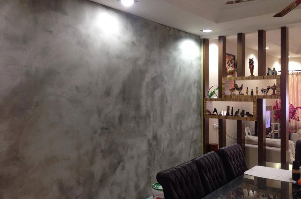 Faux Textured Wall Painting